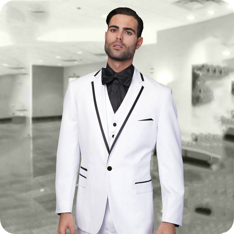 custom Hombres Chaqueta Traje Hombre Unidades Grey azul Boda Baile Trajes  Jacket As only Blanco Chaleco Padrino same Color Esmoquin red Image Para 3  ... 4899e21cce6
