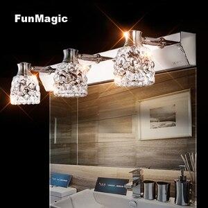 Светодиодный зеркальный настенный светильник G4, современный, зеркальный, передний, для спальни