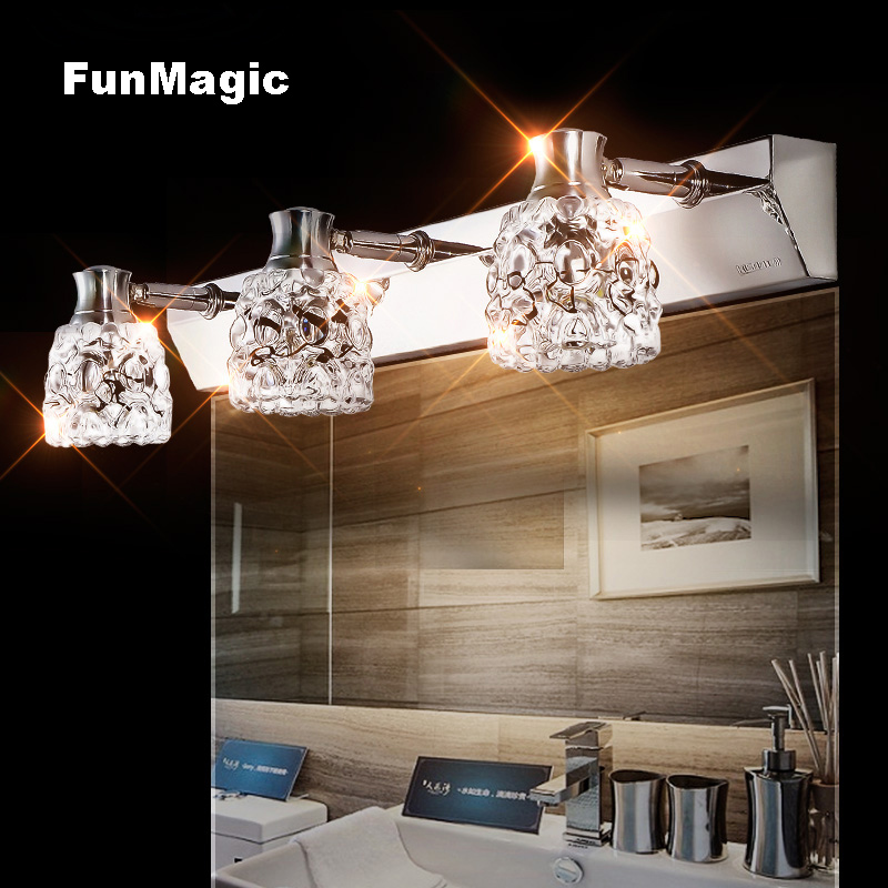 Modern Crystal Wall Lamp Mirror Cabinet LED Mirror Front Light Bedroom Bedside Lamp Vanity Lighting Wall Fixture Use G4 LED Bulb
