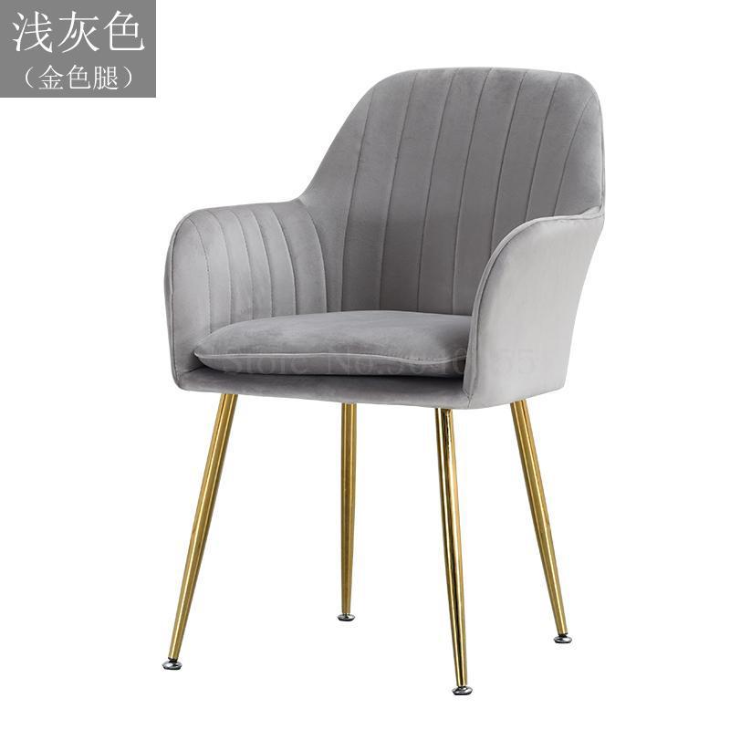 Современный дизайн, мягкий обеденный стул, модный прозрачный стул для гостиной, отдыха, мебель, стул-Лофт - Цвет: VIP 20