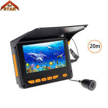 """Stardot подводная рыболовная камера 4,"""" TFT монитор 20 м 8 шт. Инфракрасный ночного видения светодиодный водонепроницаемый рыболокатор детектор"""