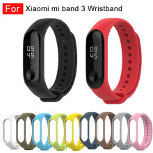 For xiaomi band 3 Silicone wrist strap For Xiaomi Mi Band 3 Bracelet Strap Miband 3 Colorful Strap Wristband Smart Band mi band3(China)