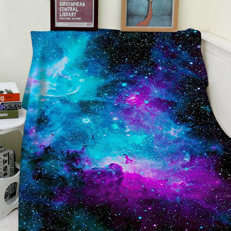 Couverture confort chaleur douce cosy climatisation facile d'entretien Machine lavage maison nébuleuse galaxie
