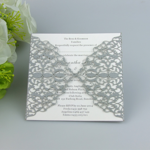 100 laser cut damask wedding invitation cardsinvitation cards for birthday party favors