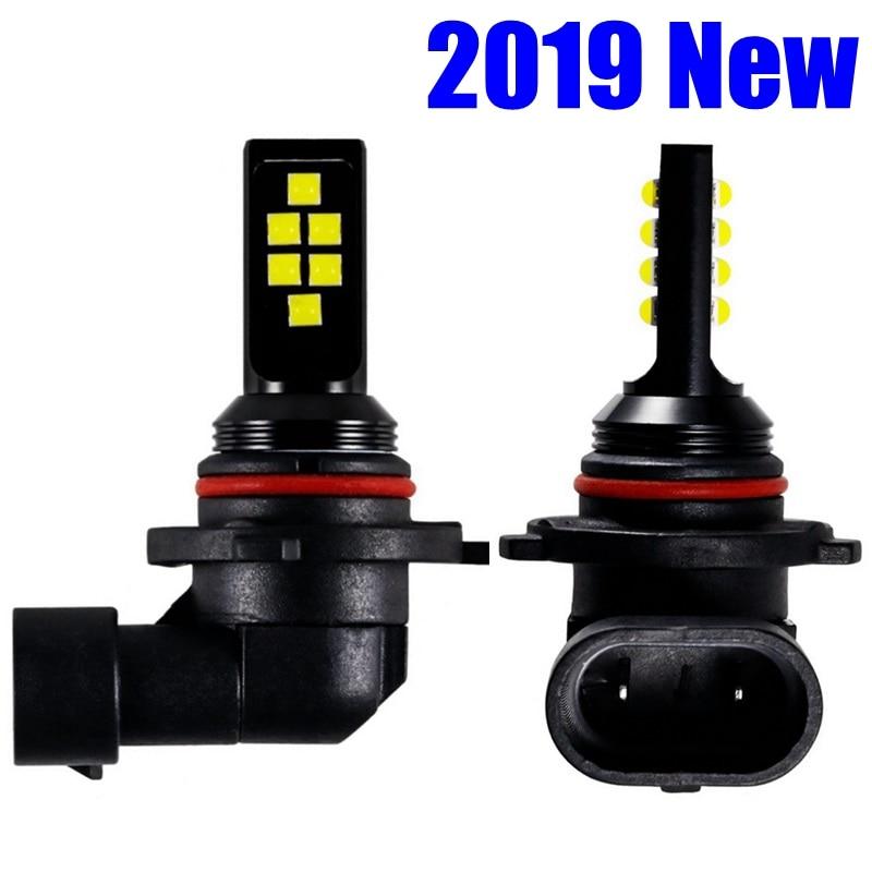 2 шт. HB4 9006 светодиодные лампы для противотуманных фар Cree Chip Led 1200LM 6000K белый желтый синий Автомобильные фары автоматические светодиоды 12В