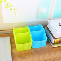 Plastic Jewelry Cosmetic Makeup Stationery Organizer Case Polygon Desk Storage Box Holder Multifunction Storage Container