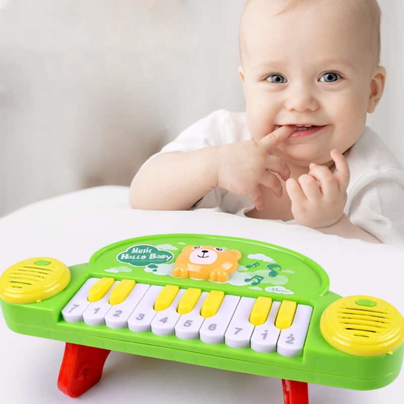 Fun Early Childhood Piano Creative Cartoon Kids Music Learning Tool 10 Keys Universal Electronic Organ Music Teaching Tool