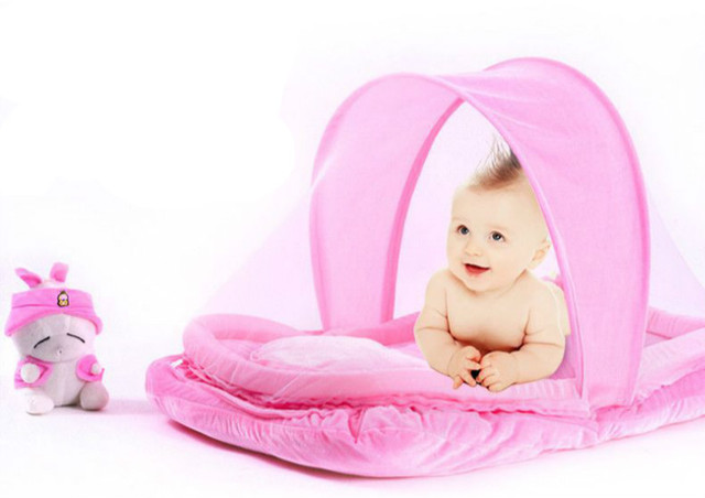 Portable and Foldable Velvet Fabric Canopy Baby Mosquito Net Kids Mosquito Tent Pink/ Blue  sc 1 st  AliExpress.com & Aliexpress.com : Buy Portable and Foldable Velvet Fabric Canopy ...