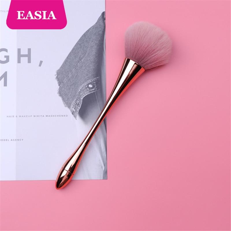 Rosegold Powder Makeup Brush Dense Soft Big Blush Brush for Loose Compact Powder Make up Fan Brush with Box 2