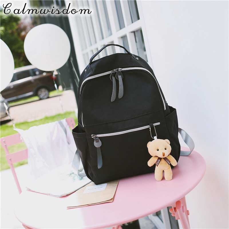 Calmwisdom Fashion School Backpacks for Teenage Girls Women Back Pack Female Cute Japan and Korean Style Backpack Travel Bags