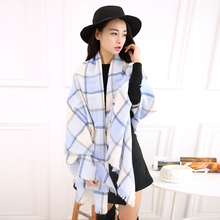 Scarf Women Long Tartan Plaid Female Knitted Winter Scarf New Autumn and Winter Bandana Scarves for Women Pashmina Shawls