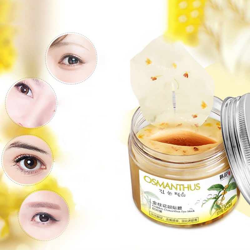 80 Pcs Gold Osmanthus Eye Mask Women Collagen Gel Whey Protein Face Care Sleep Patches Health Mascaras De Dormir