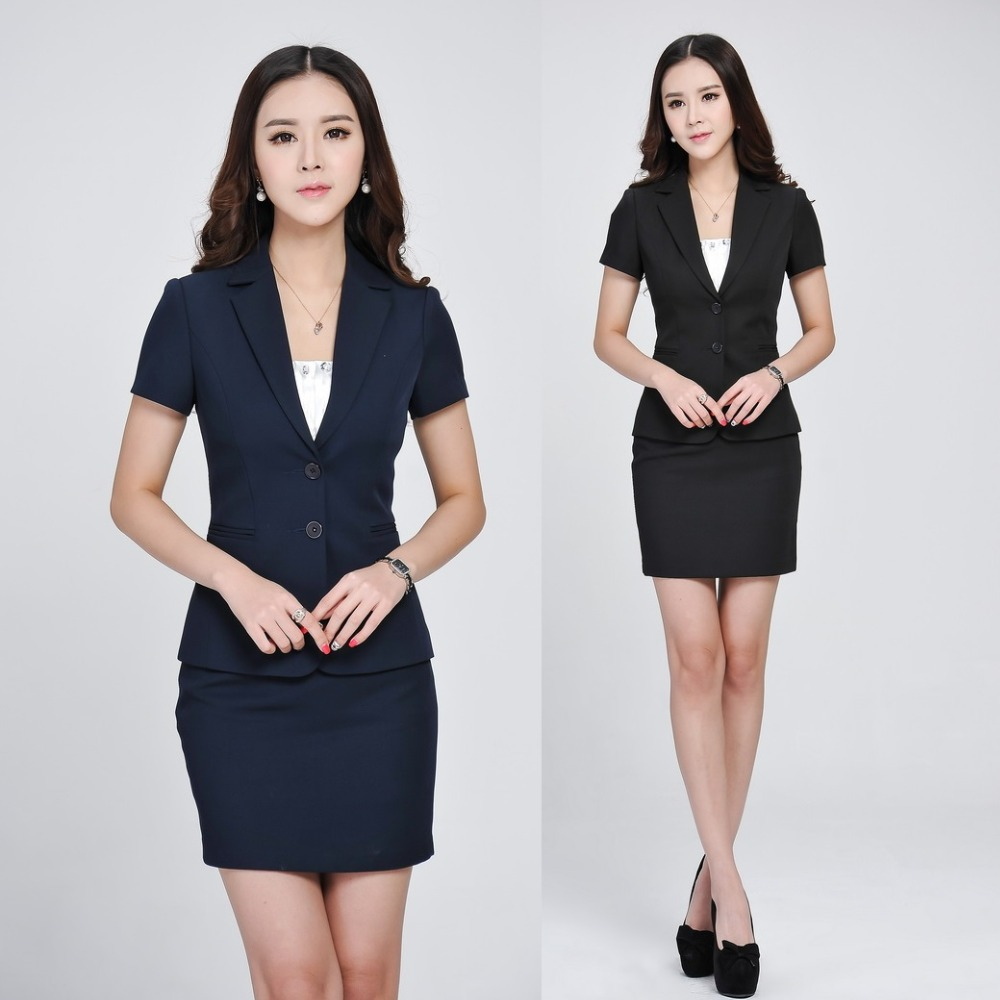 compare prices on interview skirt suits online shopping buy low summer formal women skirt suits blazer jacket set fashion ladies office suits ol beauty salon uniform