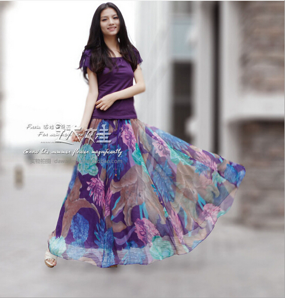 Popular Violet Maxi Skirt-Buy Cheap Violet Maxi Skirt lots from ...