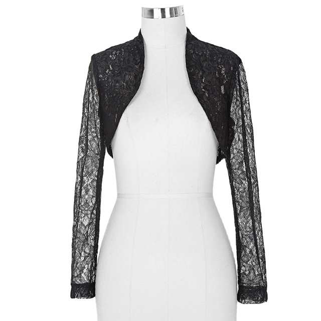 Belle Poque long sleeve jacket new fashion Slim white Black Outwear Women short Lace Coat Cropped Shrug Bolero 2016 Plus size