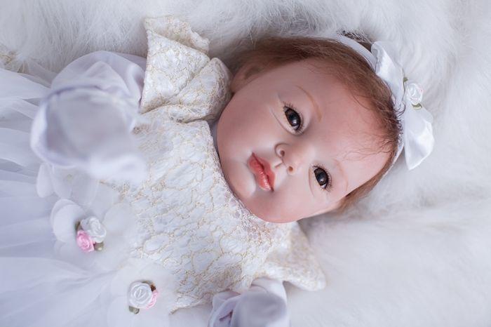 Lifelike Reborn Baby Dolls Girl Newborn Alive Realistic Soft Vinyl Handmade 22inch 55cmLifelike Reborn Baby Dolls Girl Newborn Alive Realistic Soft Vinyl Handmade 22inch 55cm