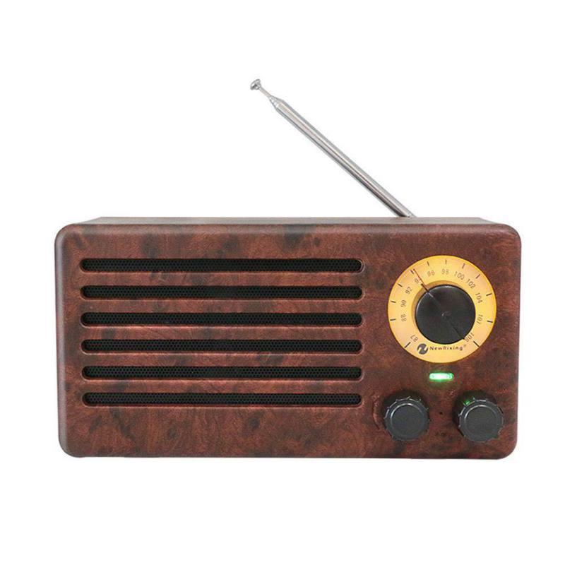 NR-3013 haut-parleurs portables rétro sans fil Bluetooth haut-parleur en bois HiFi Home rétro cinéma récepteur sonore
