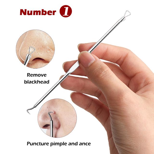 4PCS Blackhead Remover Acne Removal Needle Pimple Needle Acne Treatment Acne Needle Black Mask Acne Extractor Remover