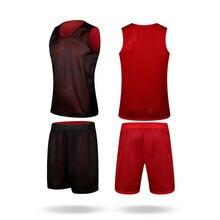 Комплект мужских баскетбольных кофт eu Двусторонняя одежда баскетбольные