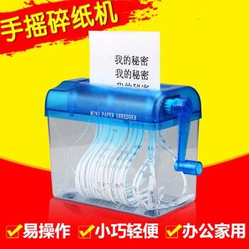 Mini Distruggi Documenti | Di Plastica A6 Mini Silenzioso Carta A Mano Cut Ufficio Trituratore Manuale Portatile Piccolo Documento Trituratore Macchina