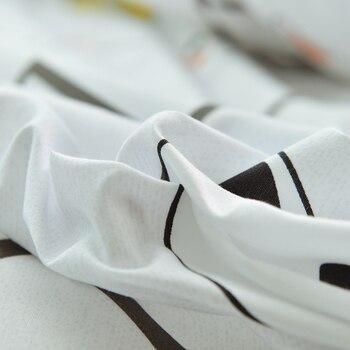 черно белое покрывало   Белый черный мультфильм кошка простой 4 шт. постельных принадлежностей в полоску простыня пододеяльник наволочка Королева Король одного ил...
