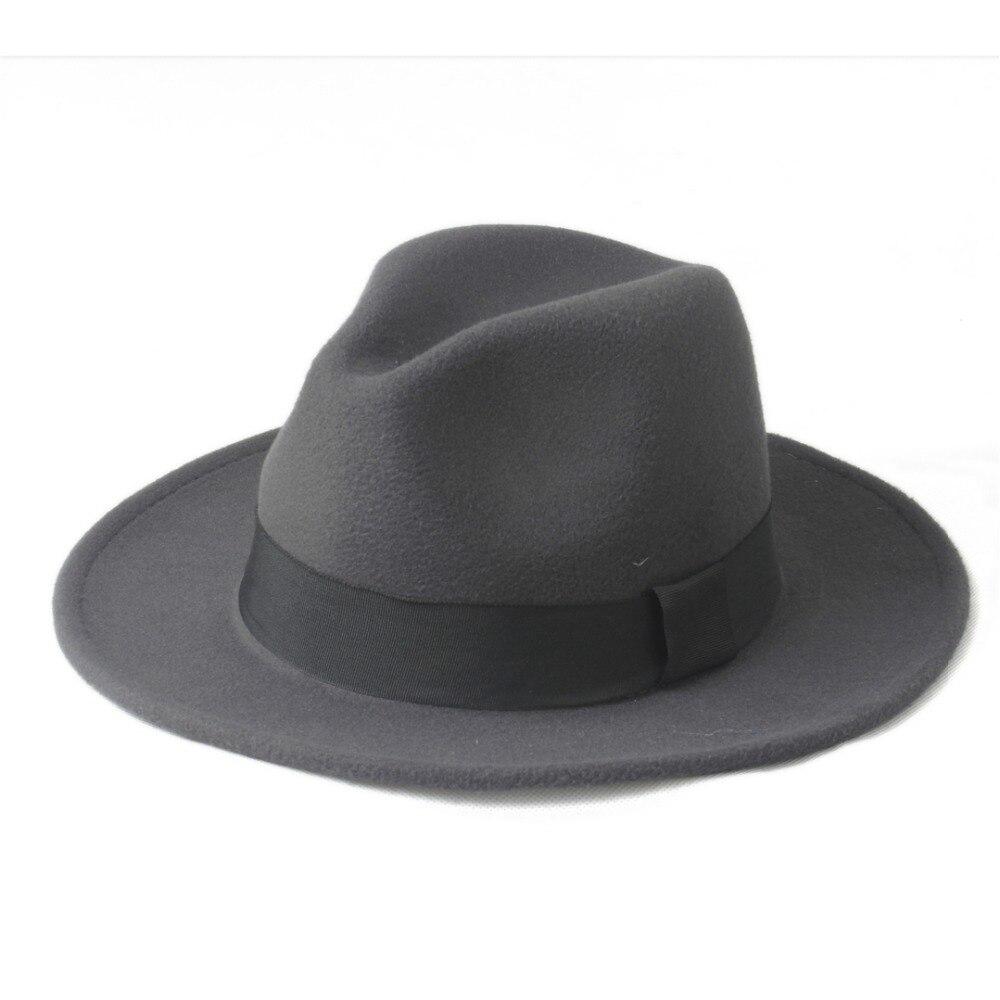 100% Wahr Neue Design Wolle Frauen Männer Chapeu Feminino Fedora Hut Für Laday Gentleman Breiter Krempe Sombreros Jazz Kirche Kappe Panama Top Hut