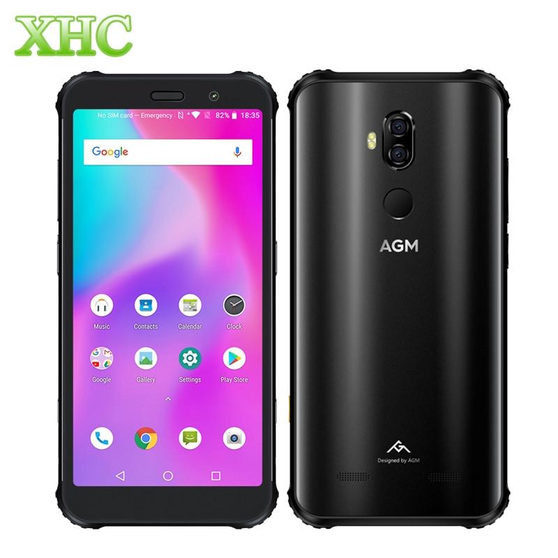 Téléphone intelligent LTE 4G AGM X3 Android 8.1 double SIM 8 GB 128 GB identification d'empreintes digitales 5.99 ''Octa Core OTG NFC recharge sans fil téléphones mobiles