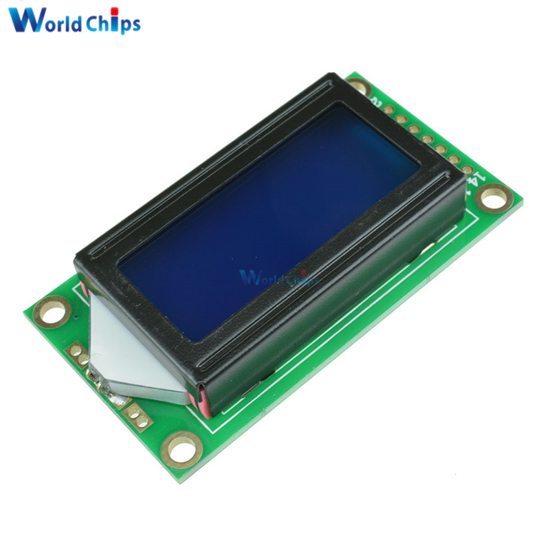 0802 8x2 Character LCD Display Module Blue Screen Blalight for Arduino
