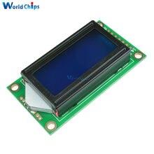 0802 lcd 8x2 caracteres display lcd módulo 5 v lcm luz de fundo azul para arduino