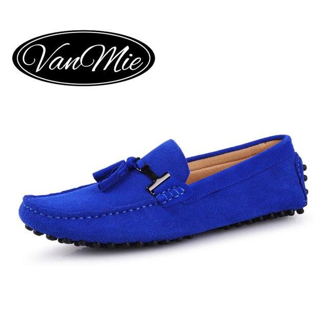 Moccasin homme Mode d'été Soft Style Mocassins Mocassins de haute qualité en cuir véritable hommes Flats Gommino Driving Shoes fiqhN
