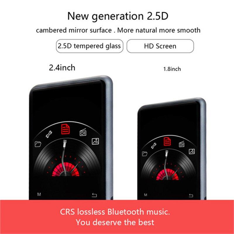 DOITOP 500mah Touch Screen Mini Bluetooth MP3 Player Support E-books FM Radio Recording MP3 Music Player Built-in Microphone