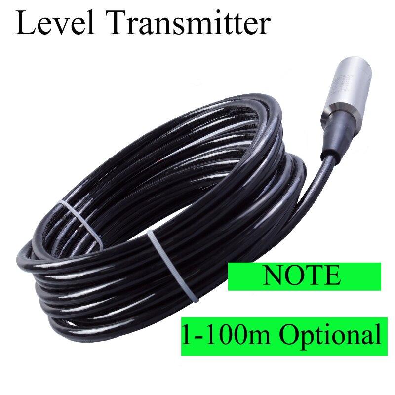 Transmetteur de niveau d'entrée, plage de capteurs de niveau d'eau: 10 m (par défaut) 5-100 m, capteur de niveau de liquide intégré 4-20mA