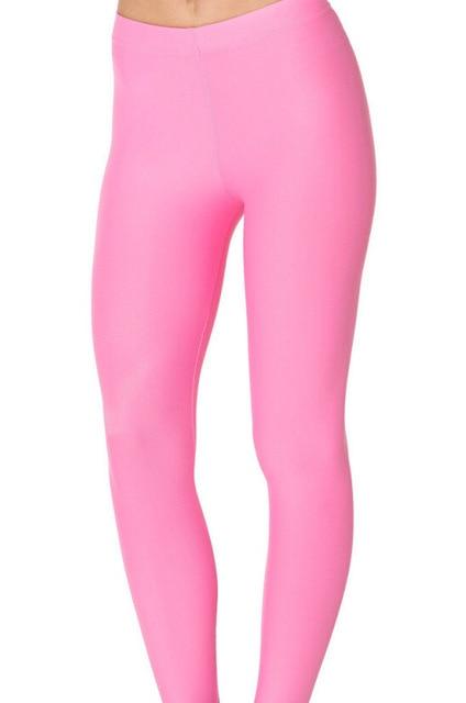 c0df209d5e7e90 Neon Pink red navy skyblue dark grey black purple solid color Yoga Leggings  for Skinny girls