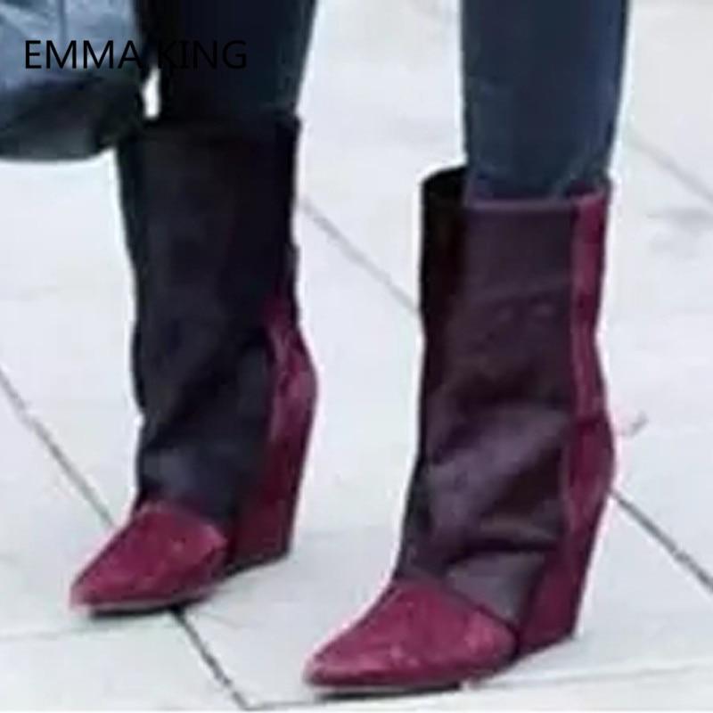 Dames Hiver Sexy Shown Picture Femme Nouvelle Bout as Crin Long Bottes In Genou Pointu Hauts As Talons Chevalier 2018 Haute Chaussures Picture Arrivée Coins Femmes 4OW6a6q