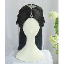 Conjunto de cabello de princesa de 80cm para fotografía, vestido de Hada, fiesta de disfraces, juego de TV de pelo chino antiguo para mujer