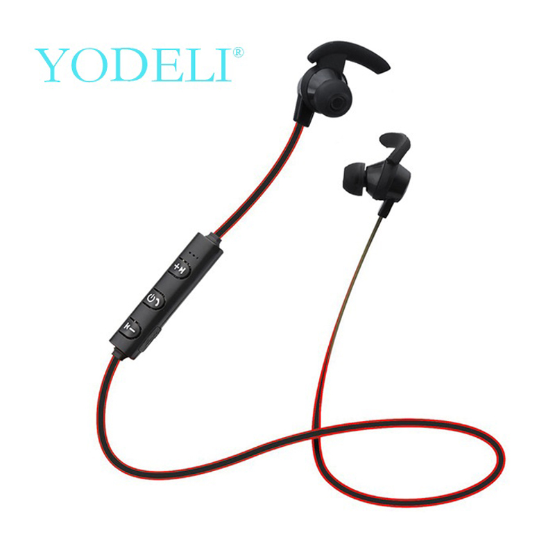 YODELI In Ear Bluetooth Earphone Wireless Bass Headphones Sport Running Headset  With Microphone for iPhone xiaomi Smartphone kz ates ate atr hd9 copper driver hifi sport headphones in ear earphone for running with microphone game headset