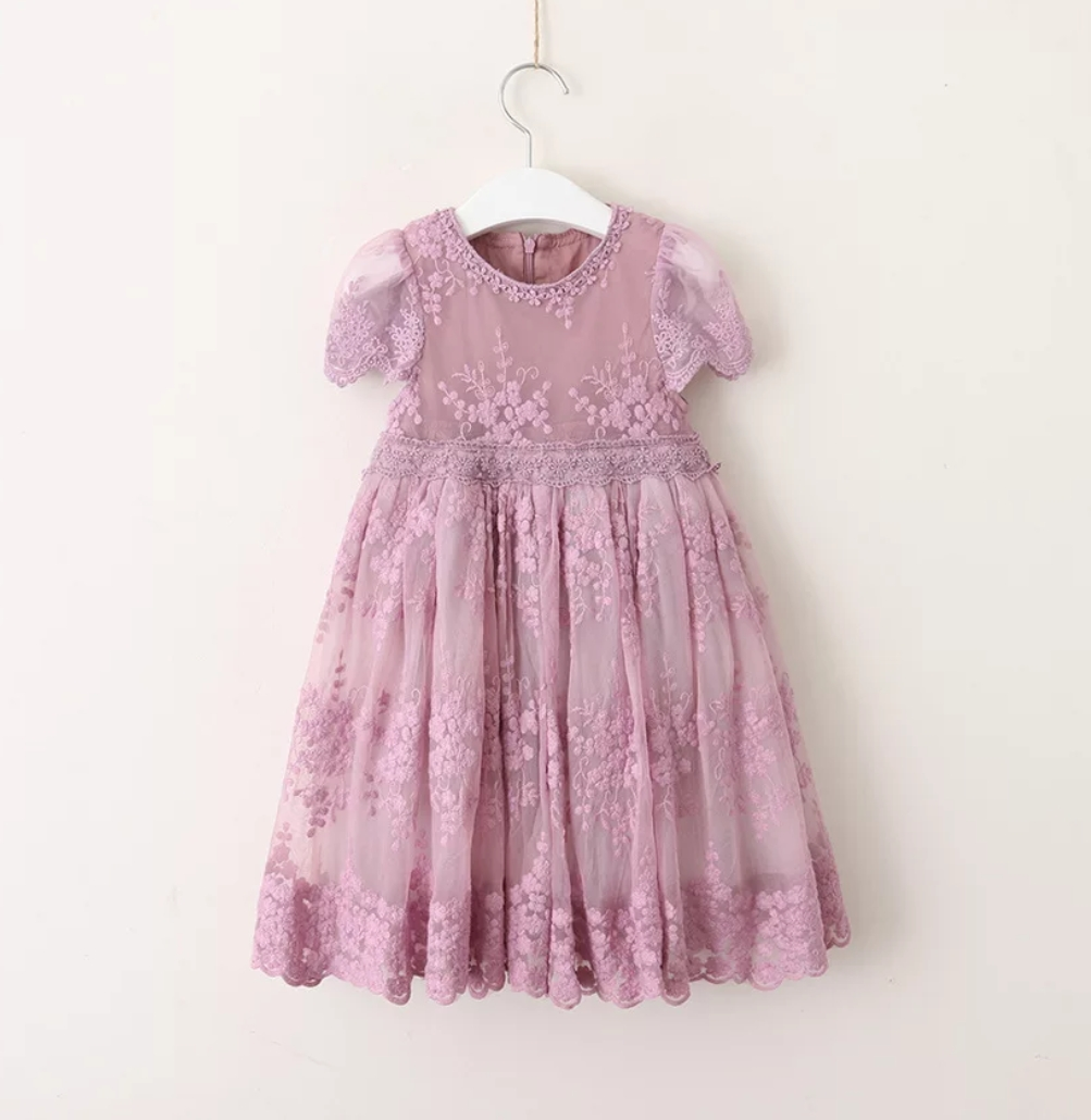 6070 Princess Party Wedding Lace Girls Dress Summer A-Line For 4-9 Years Kids Dresses For Girls Wholesale Baby Girl Clothes children girls dress summer lace sleeveless holiday party wedding princess a line dresses girl clothes vestido infantil 2968w