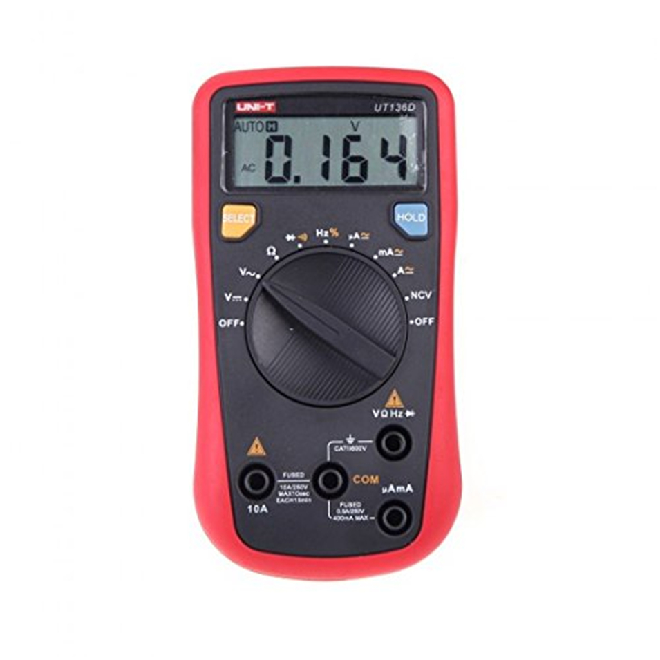 UNI T UT136D Auto Range LCR Meter Multitester Data Hold DMM Digital Multimeters w Frequency Duty Cycle Test in Multimeters from Tools