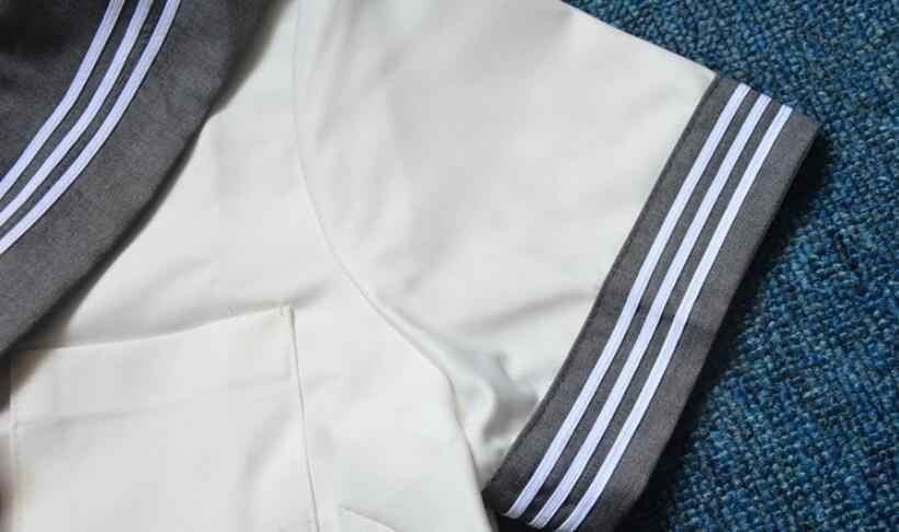 Серая форма костюмы Белый 3 LINESTR японский JK наборы школьная форма для девочек Сакура вышивка средней школы женщин Новинка JKL031