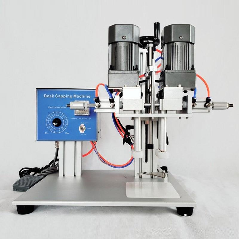 YTK Scrivania Automatico della macchina di Coperchiamento della Protezione Speciale Spray Cosmetici Medico Trigger Cap Tappatore Macchina Visiere ripara occhi per lo shampoo Coperchio