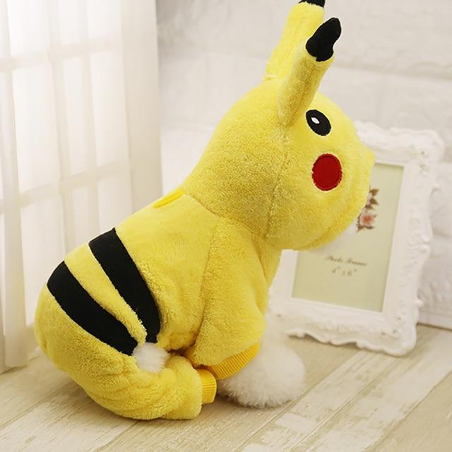 Cute Cartoon Pikachu Vestiti Del Cane di Disegno Cosplay Animali Costume Vestiti