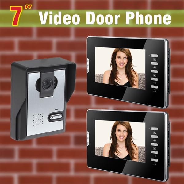 7 Inch Screen Video Door Phone Intercom System Video Door Camera Video Doorbell Intercom Video Door Bell Visual Intercom Kit