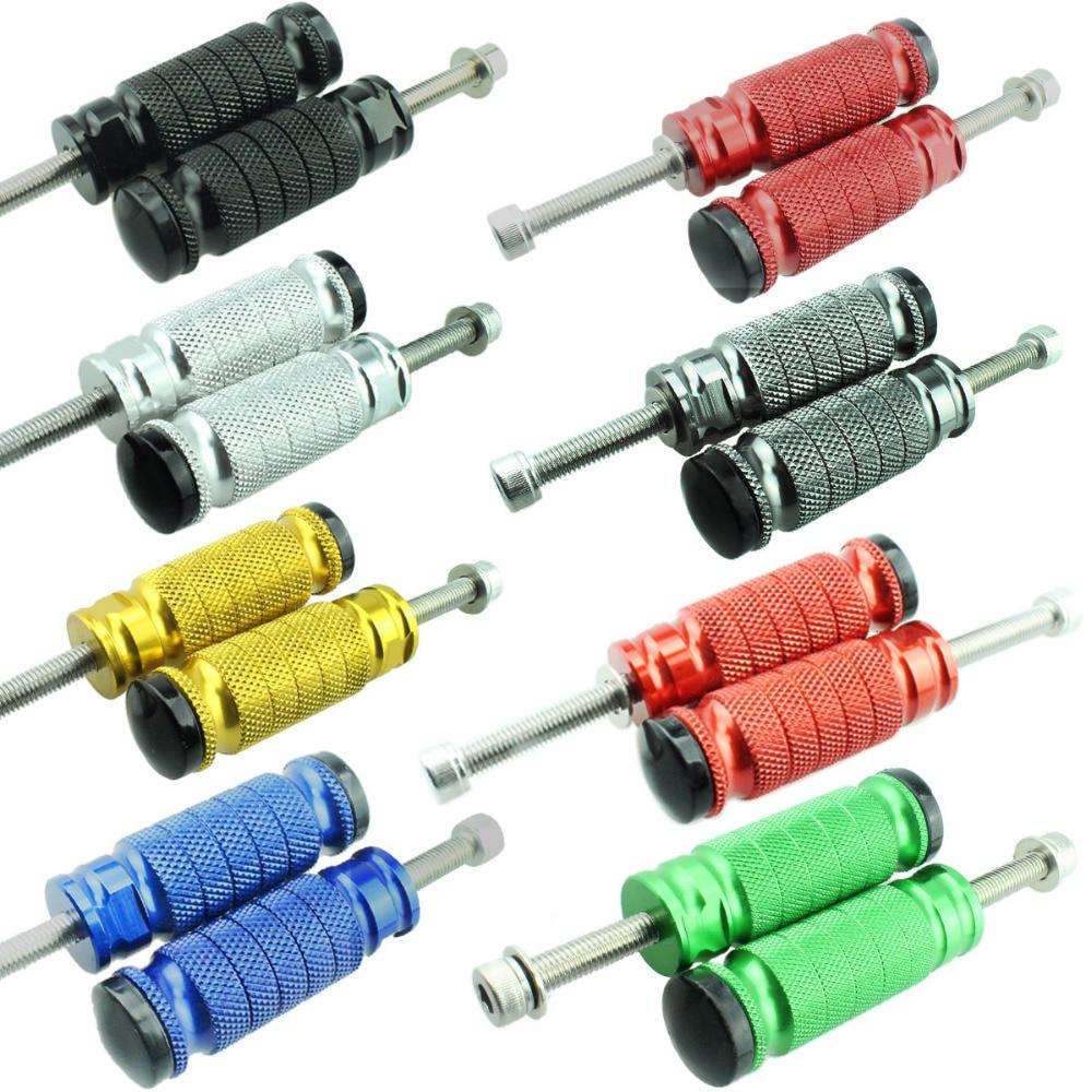 8mm FXCNC Aluminum Motorcycle Rearsets Footrests Foot Rest Pegs Pedal For Honda CBR1000RR CBR954RR CBR929RR CBR900RR CBR600RR