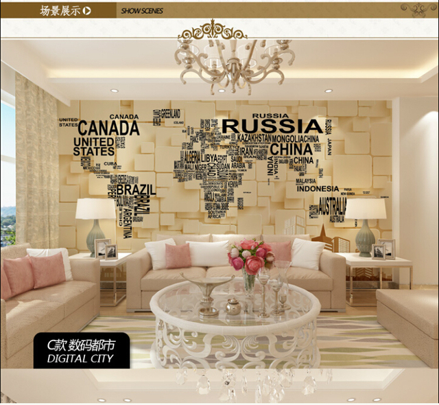 Large 3D Mural Ventilation Mute Durable Tv Background Wall Wallpaper Modern Personality 05310M Long