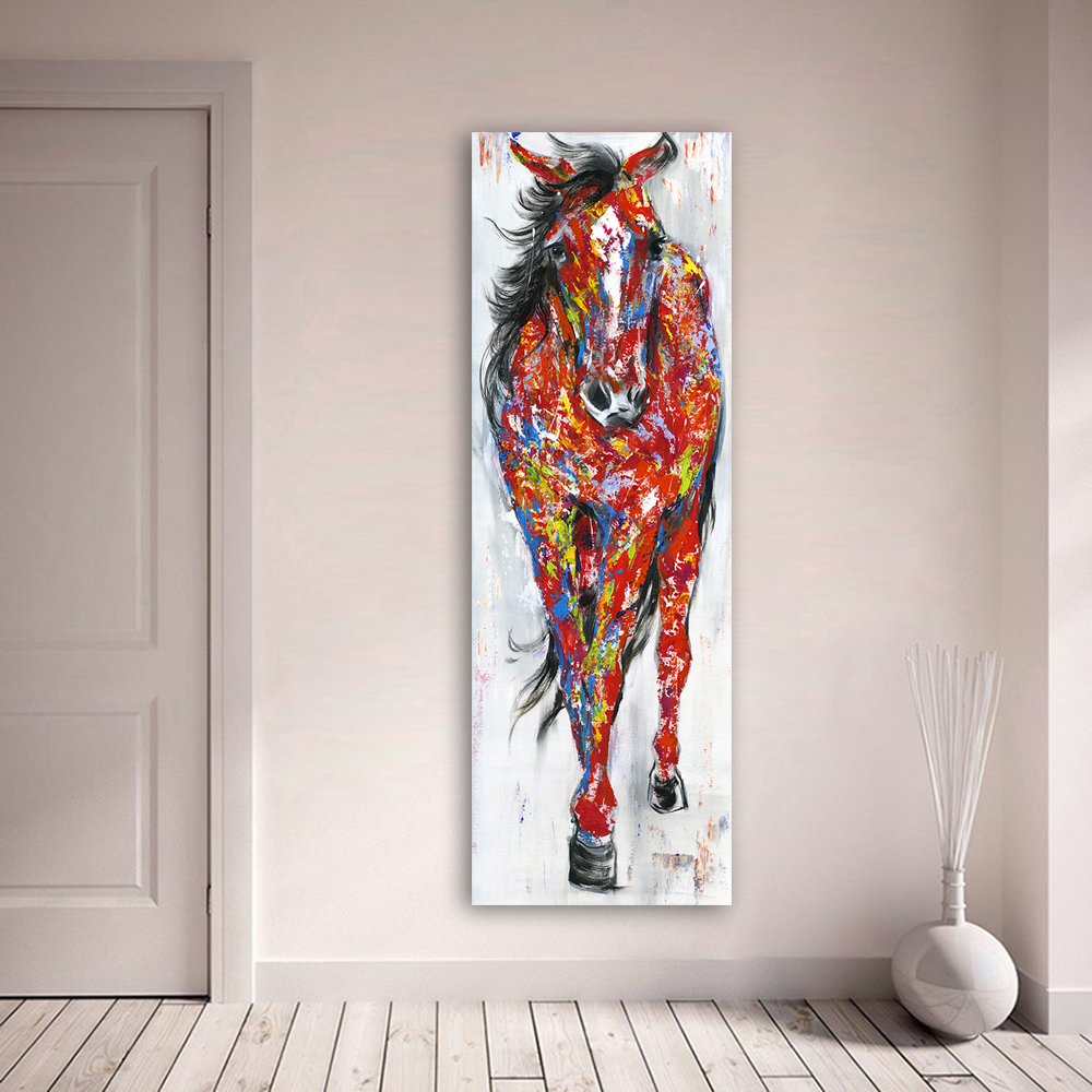 AAHH Canvas Posters Wall Art Painting Canvas Pictures Animal Print The Standing Horse Home Decor Poster for Living Room No Frame in Painting Calligraphy from Home Garden