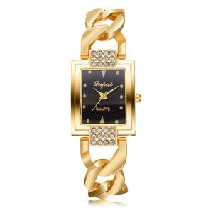 NanBo Women Watches Gem Cut Geometry Crystal Leather Quartz Wristwatch Fashion Dress Watch Ladies Gifts Clock Relogio Feminino
