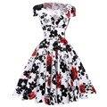 Мода 2017 Туника Rockabilly 50 s 60 s Платья Женщин Лето Ретро Старинные Цветочные Dress Vestidos Партия Свинг Одри Хепберн Dress