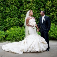 Champagne Wedding Dress 2016 Mermaid Feathers Beaded One Shoulder Pleated Taffeta Bridal Gowns Black Women Bride