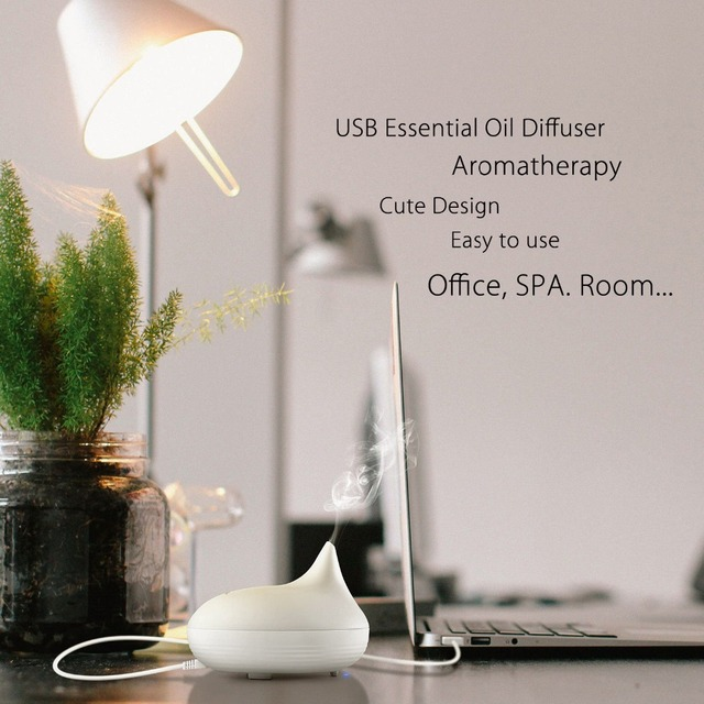 80ml Mini Ultrasonic Essential Oil Diffuser – 5V USB Aromatherapy Humidifier Mist Maker – FREE SHIPPING