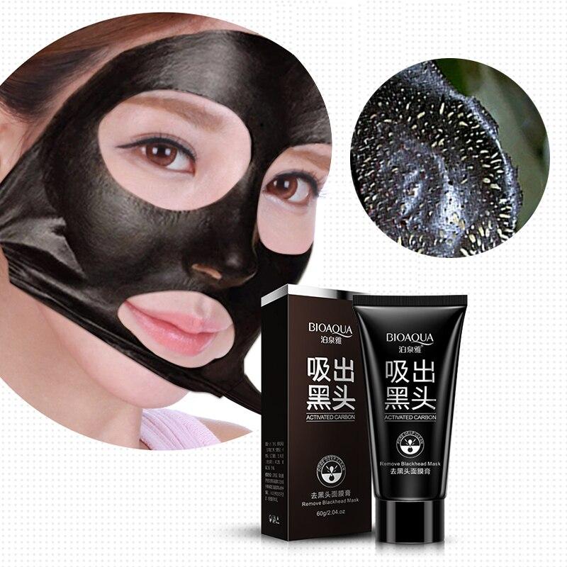 2016 Brand Skin Care BIOAQUA Facial Blackhead Remover Deep Cleaner Mask Pilaten Suction Anti Acne Treatments Black Head Mask 60g Комедон